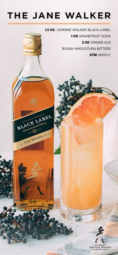 Mixologist Lulu Martinez created the Jane Walker cocktail - perfect for spring with its refreshing taste, featuring the complex flavor of Black Label.