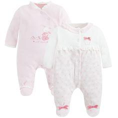 Set de dos pijamas interlock Rosa baby - Mayoral
