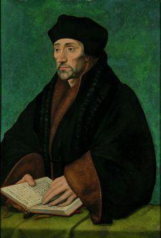 Ritratto di Erasmo da Rotterdam.  Casa di Erasmo.  1535