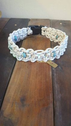 Blues and Green Hemp Pet Collar by RubiconRose on Etsy