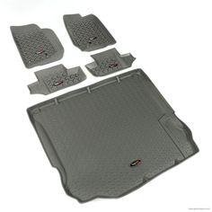 Floor Liners, Kit, Gray, 2-Door; 11-16 Jeep Wrangler JK