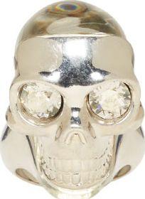 Alexander McQueen - Silver Perspex Skull Ring