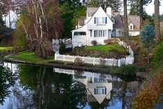 Sweet and traditional Cute Cottage, Cottage Style, Lake Oswego Oregon, Cabins For Sale, Lakeside Living, Lakeside Cottage, Lakefront Homes, Lakefront Property, Lake Cabins
