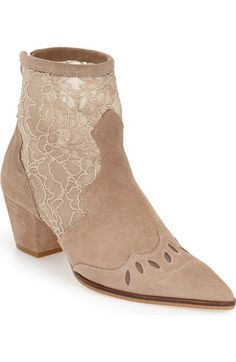 Topshop 'Alegra' Lace Pointy Toe Boot (Women) available at #Nordstrom
