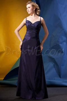 Dresswe.com SUPPLIES Attractive Ruched A-Line Floor-Length Spaghetti Straps Alina's Bridesmaid Dress 2013 Bridesmaid Dresses
