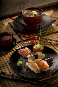 ♂ Food Styling Still Life Photography Japanese dinner by ~Jittike Japanese Dinner, Japanese Sushi, Japanese Style, Sushi Recipes, Asian Recipes, Sushi Comida, Sushi Love, Bento, Food Presentation