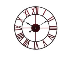 Large Modern Wall Clock - Finvis Red | The Fancy Place Living Room Modern, Modern Wall, Living Rooms, Led Wall Lamp, Wall Sconces, Sconce Lighting, Vanity Lighting, Oversized Clocks, Wooden Walls