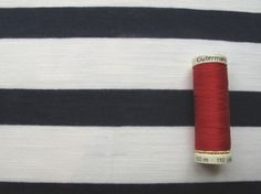 Striped jersey dress fabric