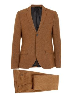Love the colour of this suit, wear with loafers and a tee for a smart casual look.