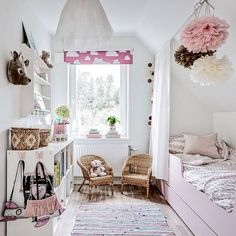 Enjoy this gallery of sweet,soft and bright girls rooms! Bright Girls Rooms, Pastel Girls Room, Little Girl Rooms, Ideas Dormitorios, Fantasy Bedroom, Ideas Hogar, Princess Room, Awesome Bedrooms, Kid Spaces