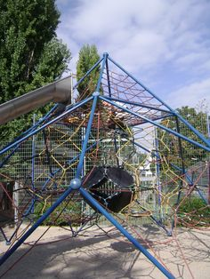 Homemade Playground Merry Go Round Driven By Hand