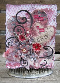 DT Lynee Forsythe from Petaloo creates these beautiful ATC using Authentique's Lovely collection and Petaloo's Valentine Flowers.