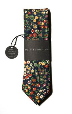 462d3a0110b6 Pomp & Ceremony Men's tie Liberty of London by pompandceremony, $72.00  Types Of Bows