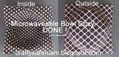 crafty sahm i am: Microwaveable Bowl Potholder (Bowl Cozy)
