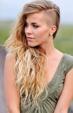 Hairstyles for Women with Shaved Sides Black Women with Shaved Sides Short One Side Shaved Hairstyles