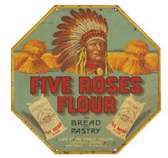 Five Roses Flour Sign | Antique Advertising Value and Price Guide