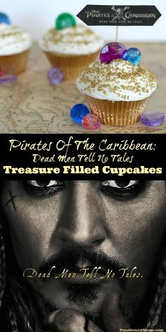 Excited about the new Pirates Of The Caribbean: Dead Men Tell No Tales? So am I! Check out this sneak peak of the new movie, plus some pirate inspired treasure filled cupcakes, perfect for your little one's pirate birthday party!