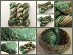 Jaded. Witch Candy Yarn colorway.