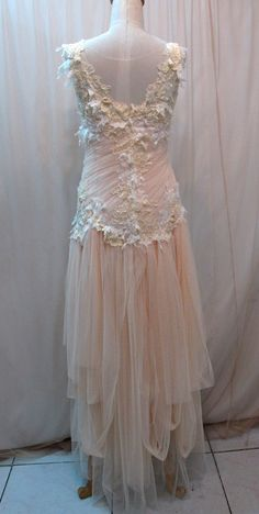 Custom Made One of A Kind Tulle Slant Asymmetrical Long by Madabby