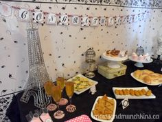 Paris Baby Shower Theme: Ideas for food, decorations, activities, favors and more! #BabyShower
