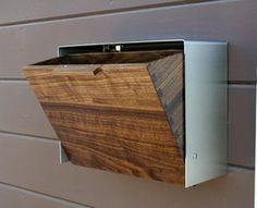 現代 メールボックス大きなクルミとステンレス メールボックスメールボックスの壁に取り付けられました by CeCeWorks