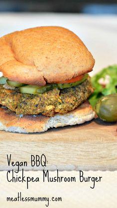 Vegan BBQ Delight: Chickpea and Mushroom Burger :: YummyMummyClub.ca