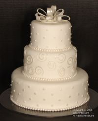 Fake wedding cake – hmmm! Best idea.. just serve sheet cake...