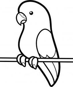 parakeet colouring page - Kids Drawing Page
