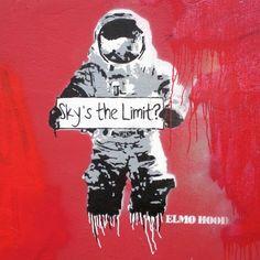 Elmo Hood. Art. Street Art. Graffiti.