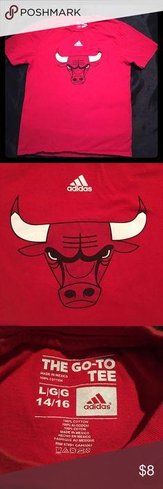 Adidas Boy Chicago Bulls Red T-Shirt Large 14/16 Adidas Boy Chicago Bulls Red T-Shirt Large 14/16 Adidas Shirts & Tops Tees - Short Sleeve