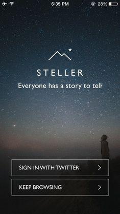 Steller Signup in Mobile