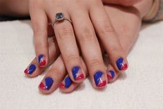 This negative space nail art tutorial would be a stunning look to try for Fourth of July.