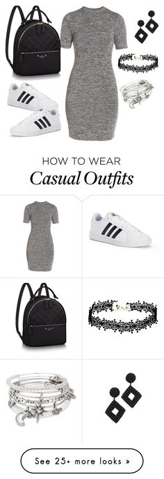 """casual hskdl"" by etsuko96 on Polyvore featuring French Connection, adidas, Alex and Ani and Kenneth Jay Lane"
