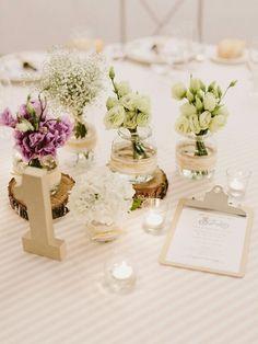 #BodaSomethingBlue Centros de mesa rústicos, Boda Rustic Chic, Decoración de Bodas, Bodas con Estilo (www.weddingplannermadrid.com)