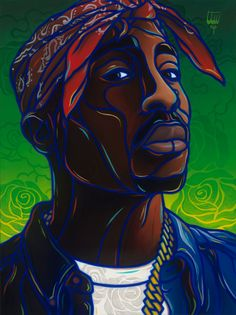 """Only God Can Judge Me"" – Tupac Shakur Painting – ICONS Series"