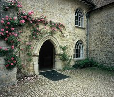 Ightham Mote courtyard by clarobuk, via Flickr