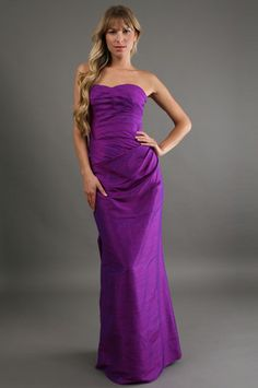 Phoebe Couture - Dupioni Strapless Dress in Blackberry  $400  www.couturecandy.com