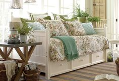 Stylishly Stored, the multipurpose daybed, also available with a trundle bed.