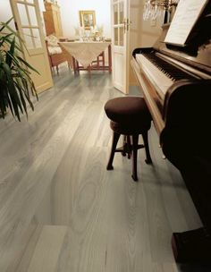 "This engineered ash hardwood is 7"" and has an oiled finish, which is a bit more matte."