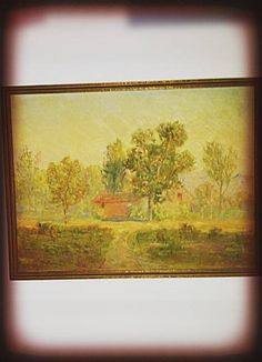 Hey, I found this really awesome Etsy listing at https://www.etsy.com/listing/210597850/vintage-oil-painting-of-a-old-house-in-a