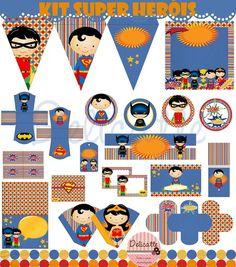 Kit Festa Digital Super Heróis