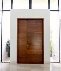 modern front door house - I like the way they added a little width without making the actual opening huge