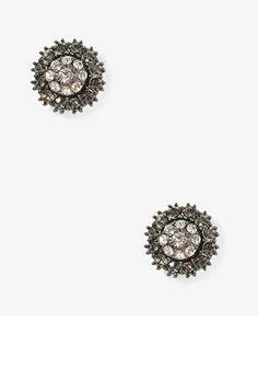 Pressed Rhinestoned Studs | FOREVER21 - 1030187699
