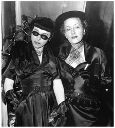 Edith Head and Gloria Swanson, 1950. Ms. Head designed Ms. Swanson's wardrobe for Billy Wilder's Sunset Boulevard.