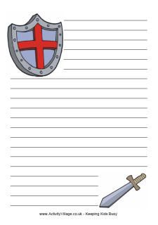 Knight Paper - have the kids write a story about their favorite Knight, or of… Kids Writing, Writing Paper, Knight Party, Paper Dolls Printable, Armor Of God, Vacation Bible School, Dragons, Medieval Times, Bible Crafts