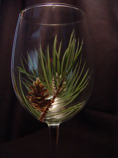 Pinecone Wine Glass Set for WINTER Energy #aclearplace