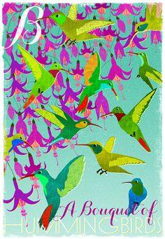 B - A Bouquet of Hummingbirds | WOOP STUDIO