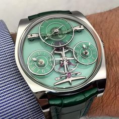 The Emmanuel Bouchet Complication One is also available with this lovely green.