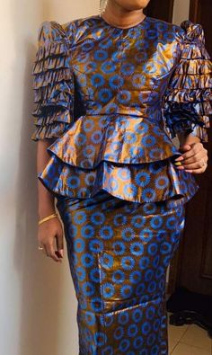 latest ankara skirt and blouse skirt and blouse style for wedding,latest ankara short skirt and blouse styles 2018 African Maxi Dresses, Ankara Skirt And Blouse, Latest African Fashion Dresses, African Dresses For Women, African Print Fashion, African Attire, African Wear, Ankara Dress, African Blouses