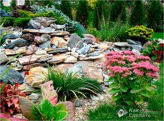 gartengestaltung ideen steingarten am hang | garden walls, paths, Garten und erstellen